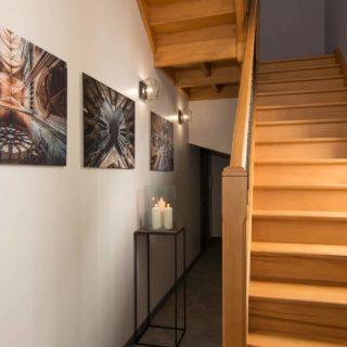 escalier gîte Escale des Aulnes